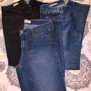 3 pairs of Gap jeans